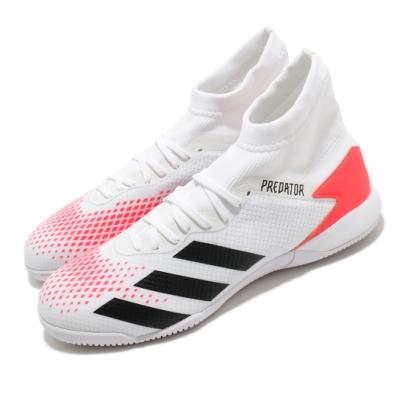 adidas 足球鞋 Predator 20 3 IN 男鞋 愛迪達 三線 室內 水泥地 木地板 無鞋釘 白紅 EG0916