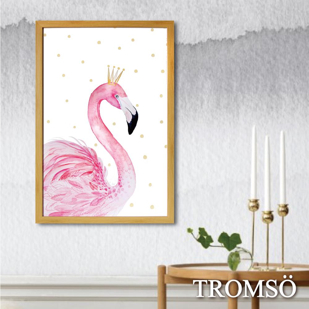 TROMSO格調北歐-棉布有框海報畫(大)-皇冠火鶴