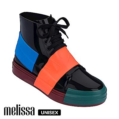 Melissa 潮流Sneaker 高筒休閒鞋-撞色黑