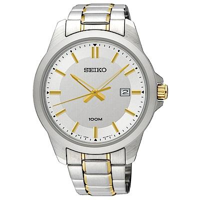 SEIKO 自信魅力石英腕錶(SUR247P1)白-/42mm