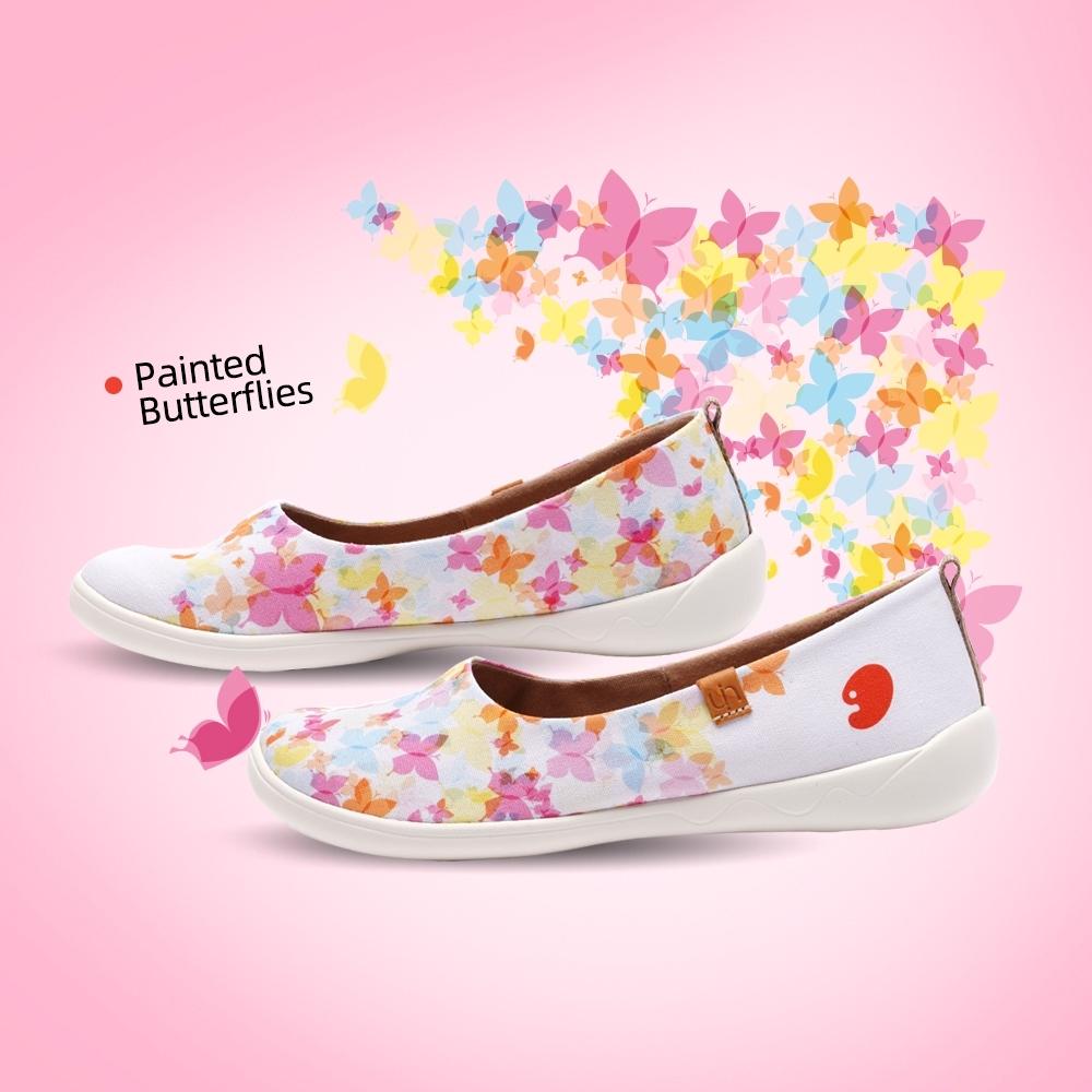 【Uin】西班牙原創設計-繽紛烙彩繪休閒女鞋W0106117