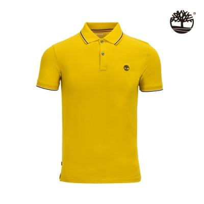 Timberland 男款小麥黃經典標誌有機棉窄版短袖POLO衫|A2EH3