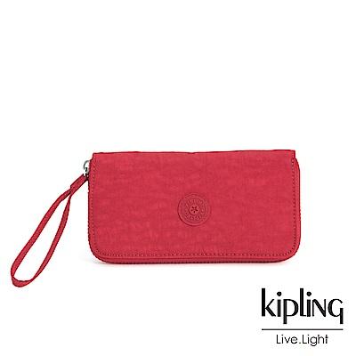 Kipling 燦爛緋紅多卡層長夾-ALIA