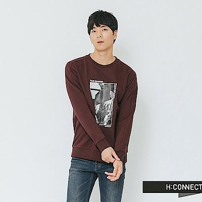 H:CONNECT 韓國品牌 男裝-復古個性圖像上衣-棕