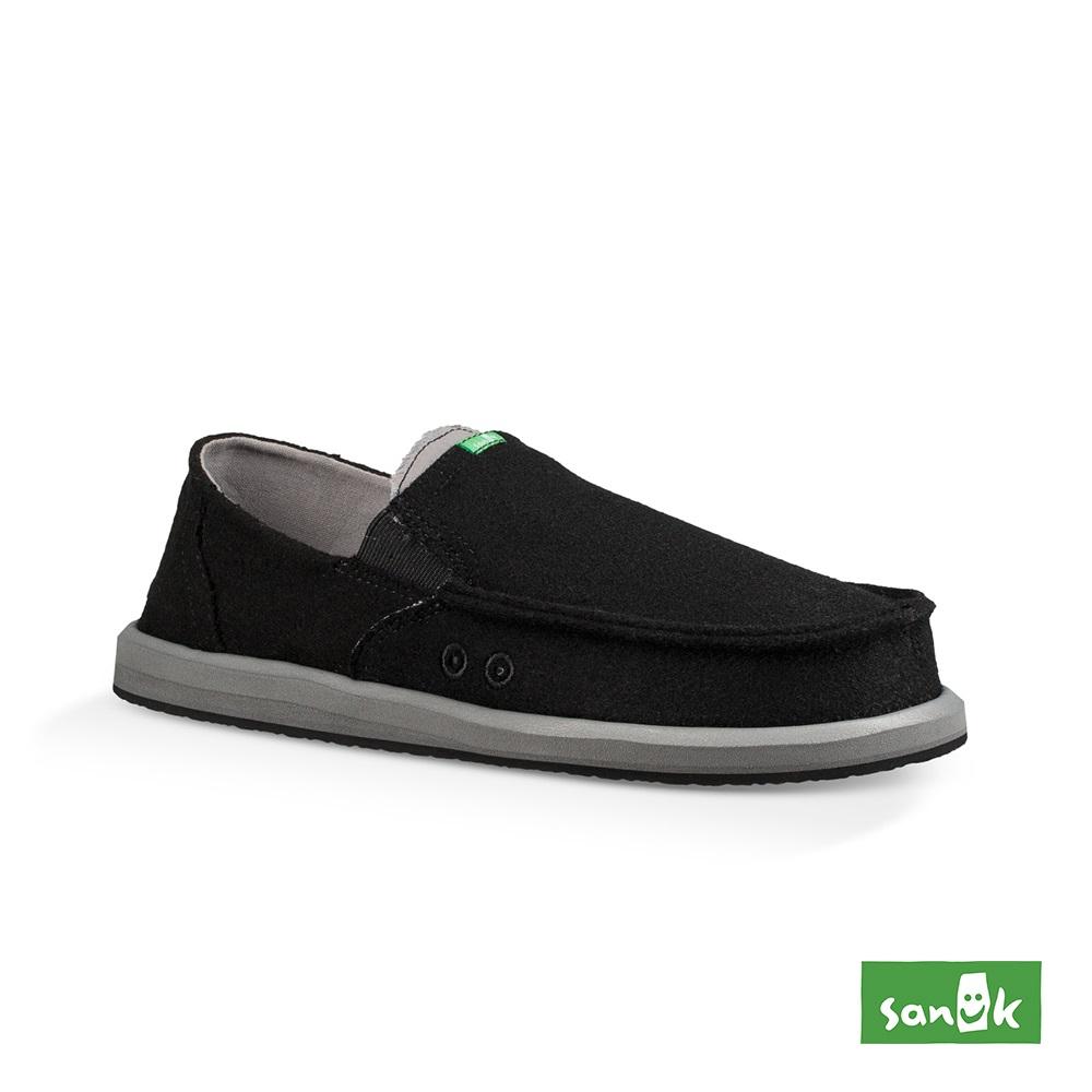 SANUK PICK POCKET FELT 羊毛口袋寬版懶人鞋-男款(黑色)1097471 BLK