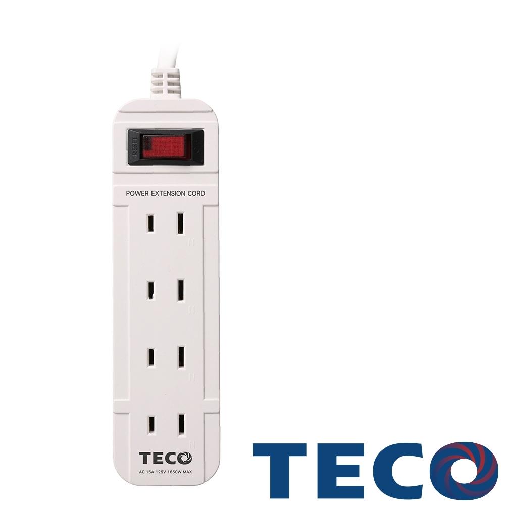 TECO東元 一開四插轉接電源線組 XYFWL214T6