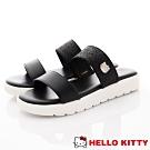 HelloKitty童鞋 亮片簡約涼鞋款 EI19242黑(大童親子段)