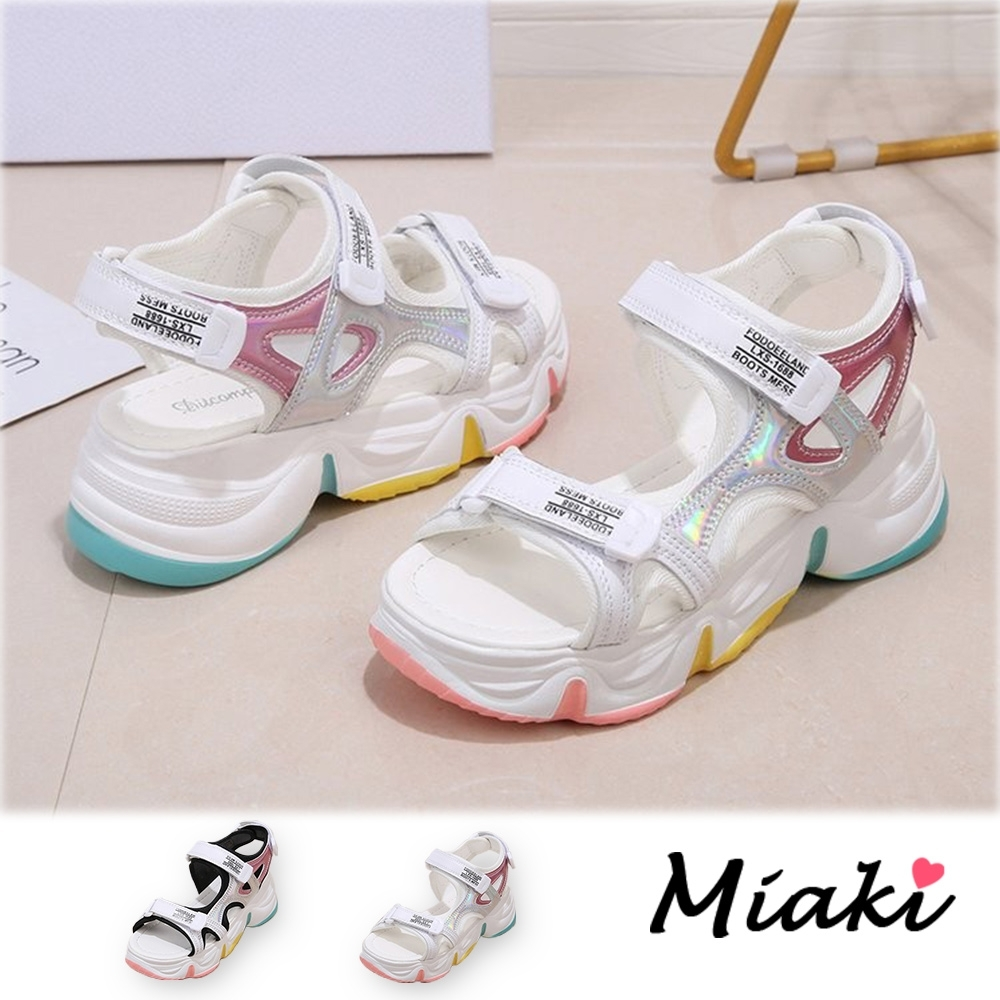 Miaki-涼鞋-繽紛仲夏輕底休閒運動涼鞋