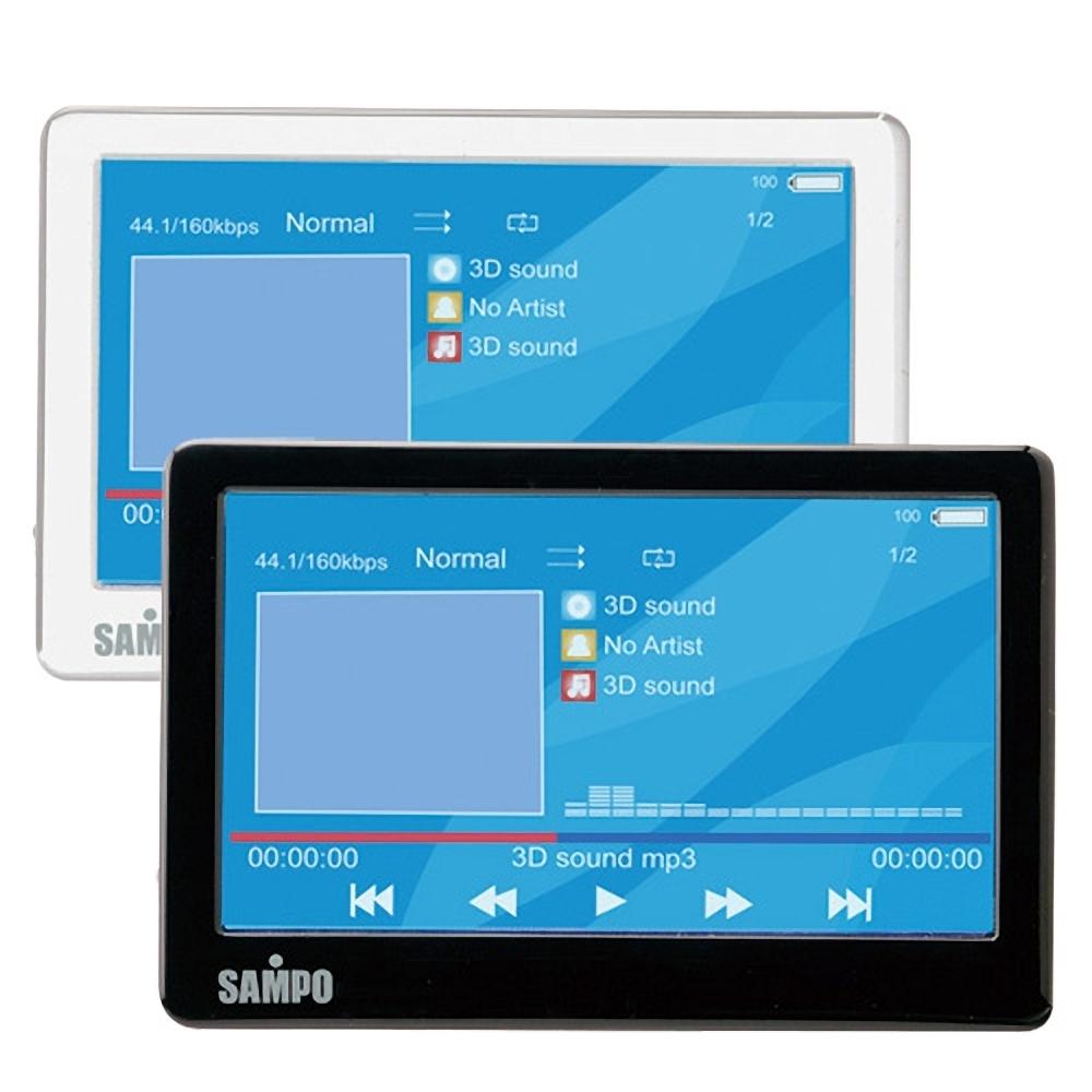 SAMPO聲寶4.3吋8GB MP5數位播放器(MP-R1107L)