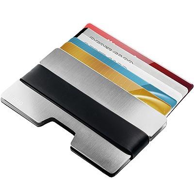 《REFLECTS》鋁製RFID證件夾(銀)