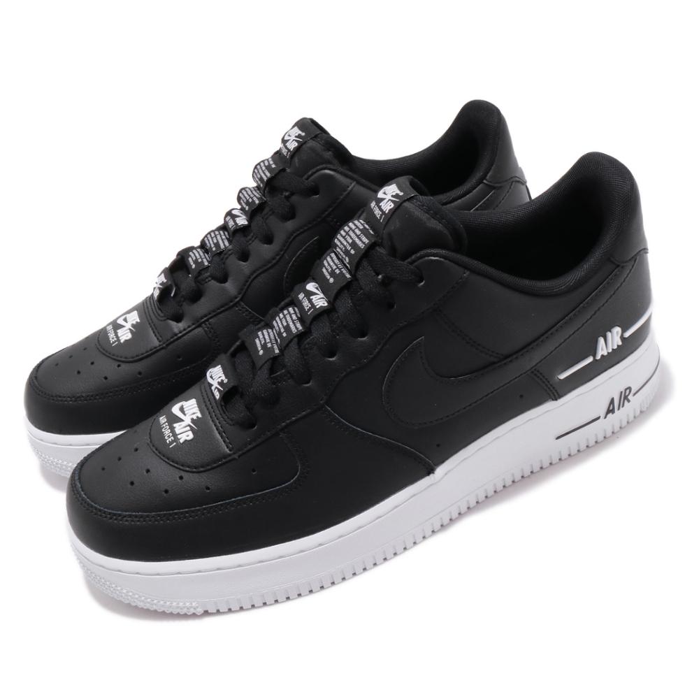 Nike 休閒鞋 Air Force 1 07 運動 男鞋 基本款 皮革簡約 厚底 舒適 串標 黑 白 CJ1379001