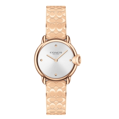 COACH 經典LOGO手環玫瑰金腕錶28mm(14503693)