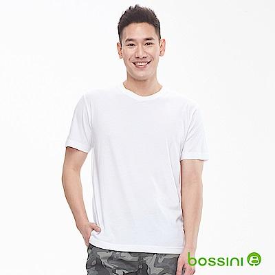bossini男裝-素色純棉圓領T恤白