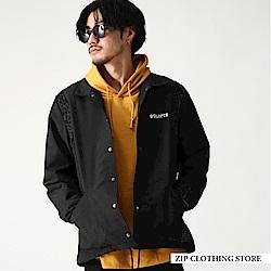 豹紋拼接教練夾克(2色) ZIP日本男裝