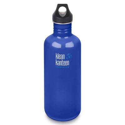 美國Klean Kanteen不鏽鋼冷水瓶1182ml-沿海藍