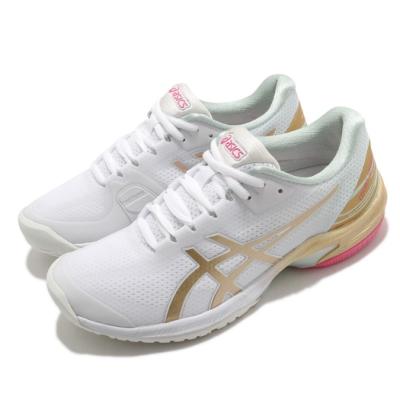 Asics 網球鞋 Court Speed FF New Strong 女鞋 亞瑟士 速度型 耐用 白 金 1042A145100