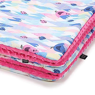 嬰兒毯寶寶毯-La Millou 暖膚豆豆毯-莓果咕咕雞(桃氣小甜心)