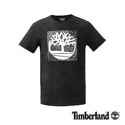 Timberland男款黑色Kennebec Tree大樹LOGO T恤|A1NHS