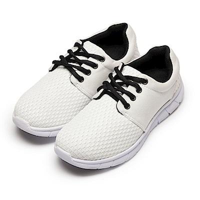 BuyGlasses 飛梭編織感慢跑鞋-白