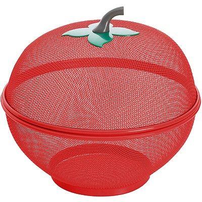 《EXCELSA》蘋果造型2in1水果籃(紅)