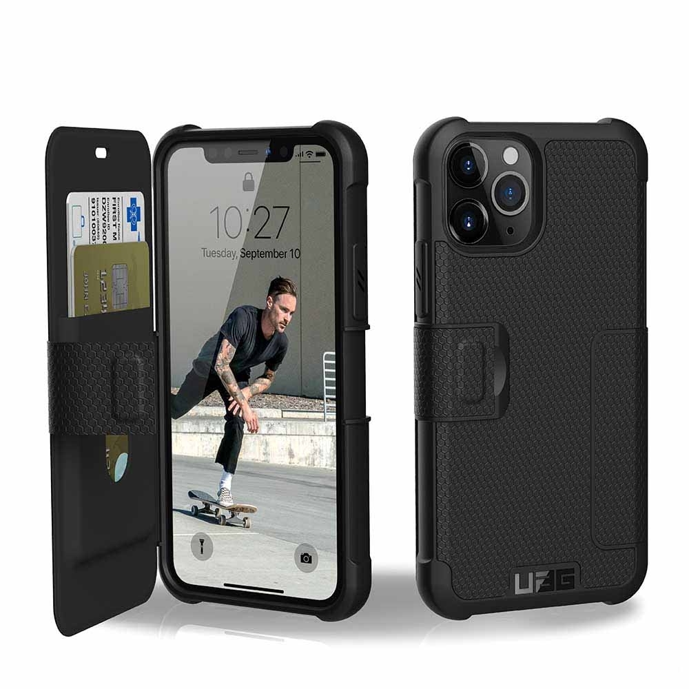 UAG iPhone 11 Pro 翻蓋式耐衝擊保護殼-黑