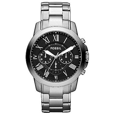 FOSSIL 天俊都鋒計時功能不銹鋼手錶(FS4736IE)-黑/44mm