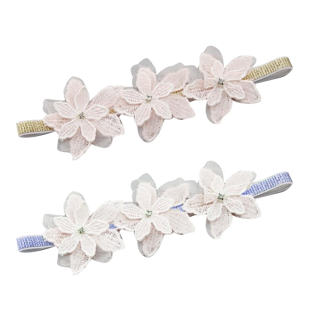Baby童衣 寶寶兒童歐美水鑽珠珠髮飾 嬰兒氣質甜美蕾絲花朵髮帶 88175