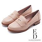 ED Ellen DeGeneres 愛心優雅樂福低跟鞋-粉色