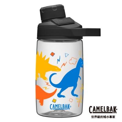 【美國 CamelBak】400ml Chute Mag戶外運動水瓶 塗鴉恐龍