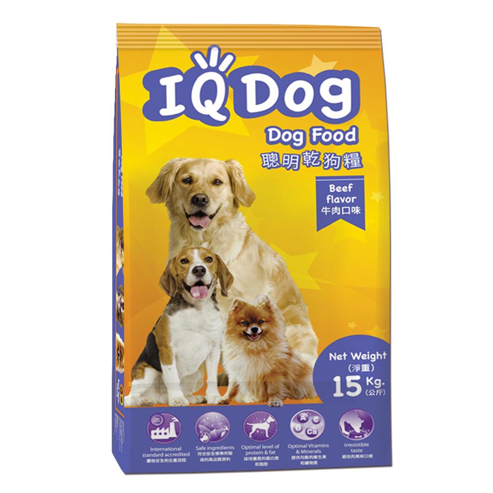 IQ Dog 聰明乾狗糧 - 牛肉口味成犬配方 15+1kg(加量包) @ Y!購物