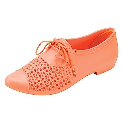MELISSA 帥氣中性型鞋-橘