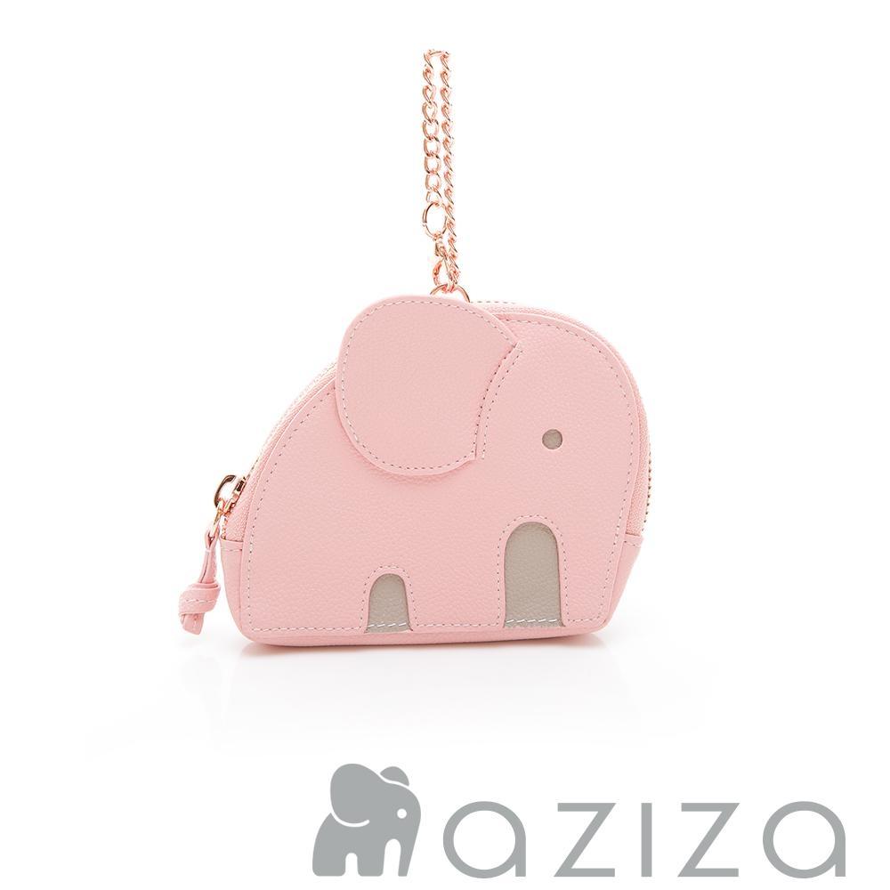 aziza小象造型吊掛零錢包 粉