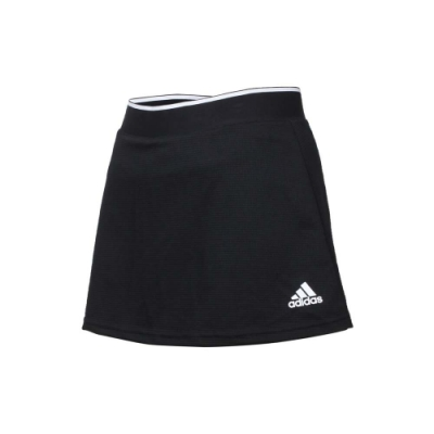 ADIDAS 女短裙-褲裙 吸濕排汗 慢跑 路跑 排球裙 愛迪達 GL5480 黑白