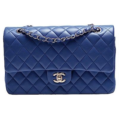 CHANEL 經典菱格紋小羊皮淡金鍊2.55 COCO包(皇家藍) @ Y!購物