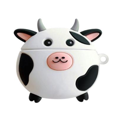 AirPodsPro保護套 乳牛 藍牙耳機 保護套 AirPods Pro 保護殼-乳牛*1