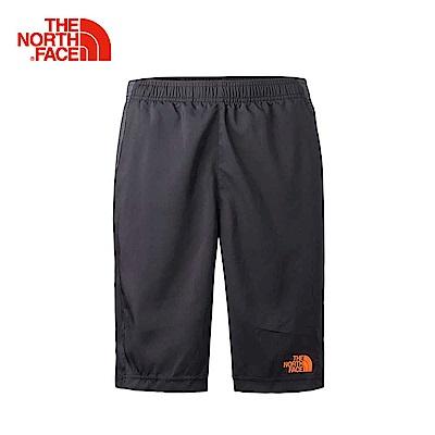 The North Face北面男款黑色透氣防潑水運動短褲| 3RGJFTH