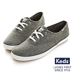 Keds CHAMPION 綁帶休閒鞋-炭灰