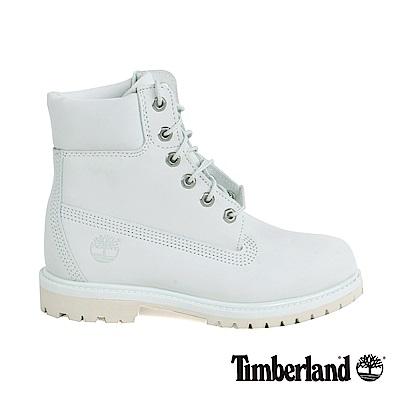 Timberland 女款淡藍色絨面皮革6 吋防水靴