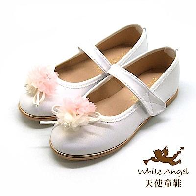 天使童鞋 艾蜜莉天使公主鞋 J8004-06 白