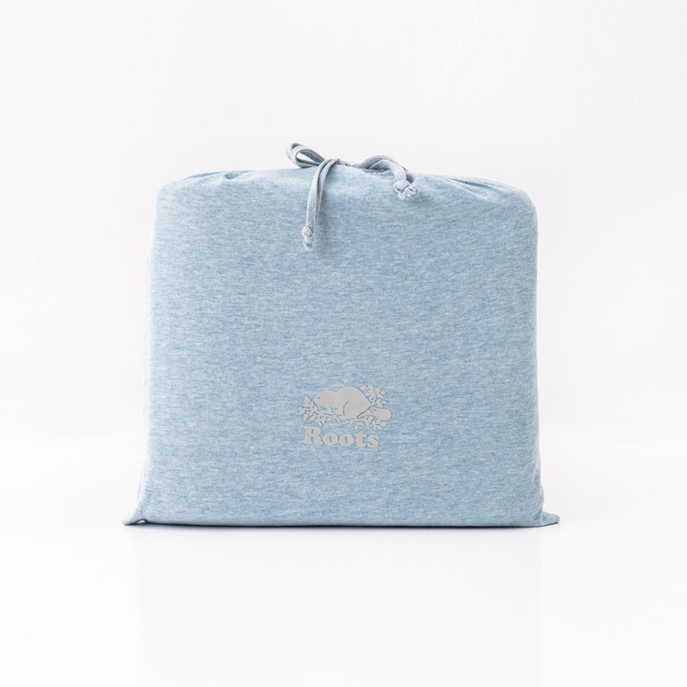 ROOTS有機棉單人床包-藍