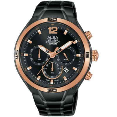 ALBA雅柏廣告款運動計時手錶(VD53-X353SD AT3G36X1)