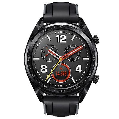 Huawei 華為 Watch GT 運動智慧手錶- 黑色(曜石黑矽膠錶帶)