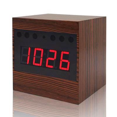 【CHICHIAU】Full HD 1080P 棕色木紋電子鐘造型微型針孔攝影機