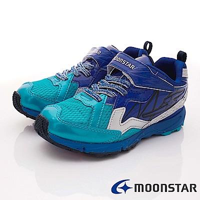 日本月星頂級競速童鞋 閃電競速2E系列 EI625藍(中大童段)