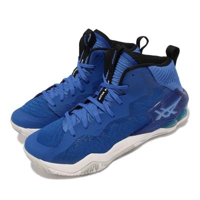 Asics 籃球鞋 Nova Surge 中筒 男鞋 亞瑟士 高階 緩震 超耐磨膠底 亞瑟膠 藍 白 1061A027402