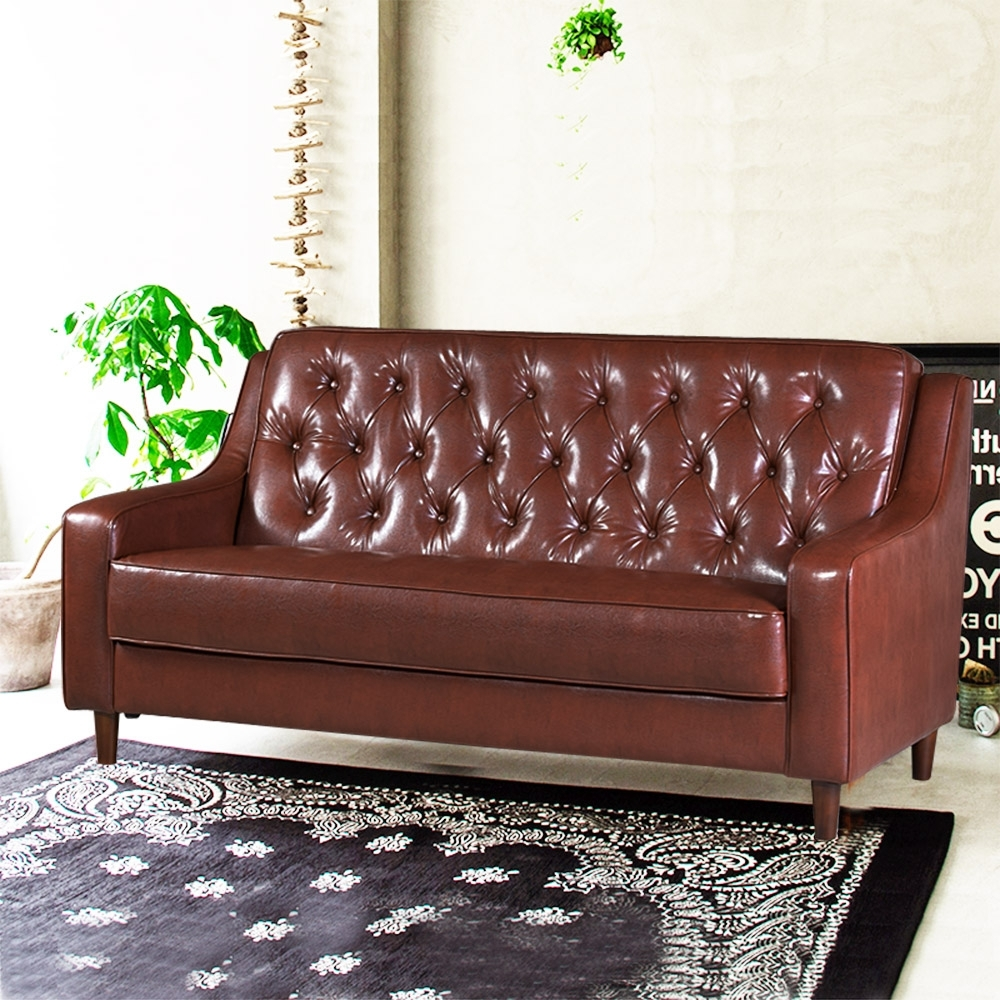 Ally愛麗-新上海-百年經典復古三人沙發172cm-三人座皮沙發-咖啡色