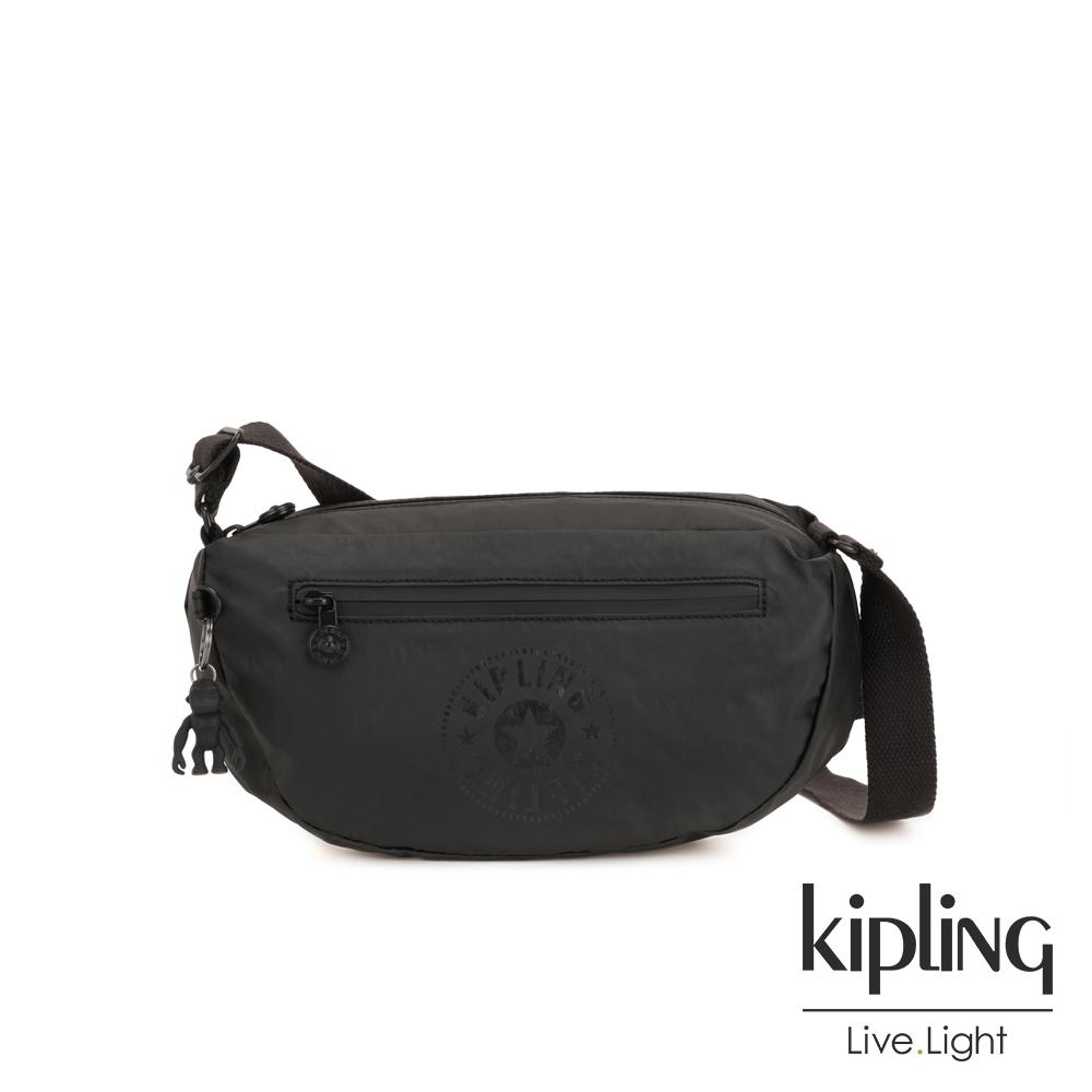 Kipling 低調質感霧黑半月側背包-SENRA