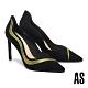 高跟鞋 AS 魅惑時髦晶鑽流線尖頭美型高跟鞋-黑 product thumbnail 1