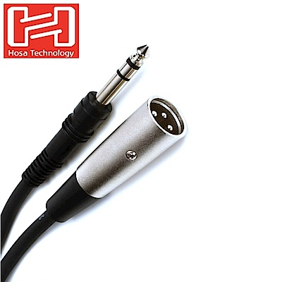 """美國HOSA TECHNOLOGY麥克風音訊線音源線STX-103M(長3英呎,將母TRS 6.3mm即1/4""""接頭轉成3PIN XLR-M公頭)樂器線吉他線麥克風線材"""