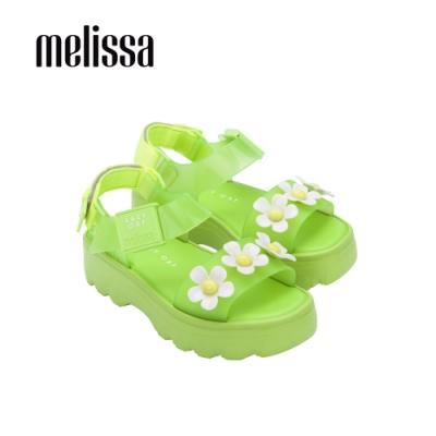 MelissaxLazy Oaf 聯名厚底立體花朵設計涼鞋-綠